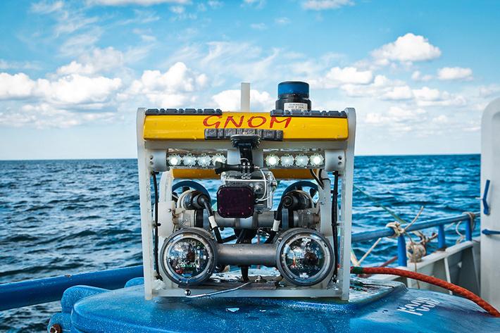 Стандартный «Гном» стоит чуть более $10 тыс. и способен опускаться до 150 м, двигаться со скоростью до 5,1 км/ч при массе до 12 кг Фото: Предоставлено пресс-службой