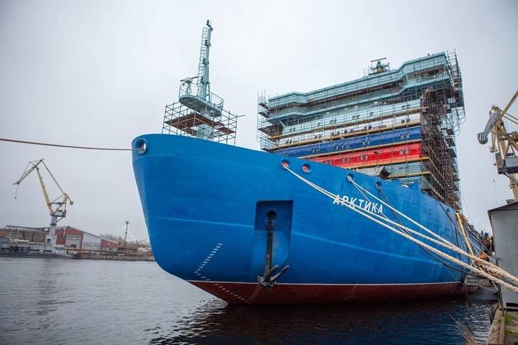 Строительство атомных ледоколов «Арктика» и «Сибирь»