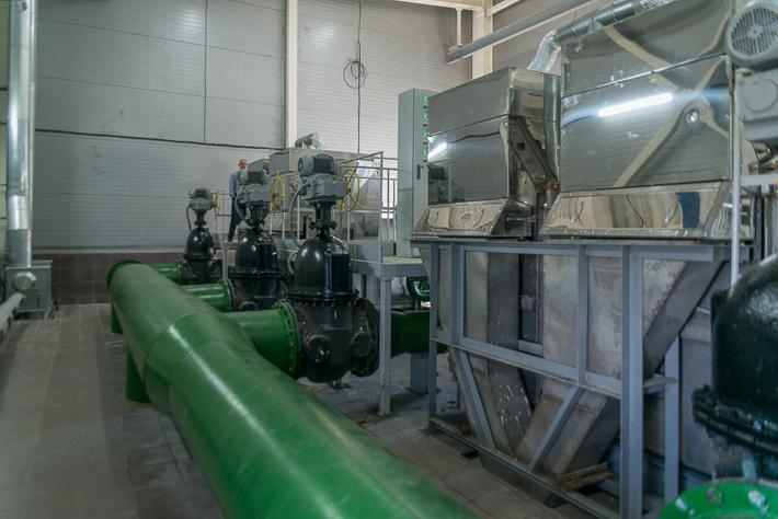 Система первичной очистки вод