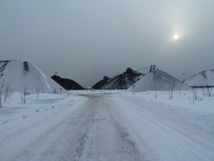 Угольный склад терминала
