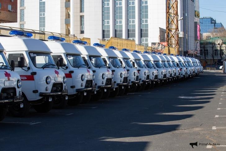 Больницы Приморья получили 59 новых машин скорой помощи