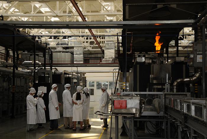 Цех «сухого» синтеза диоксида урана. Фото: НЗХК