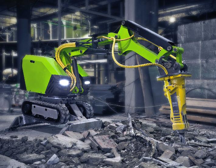 """Дистанционно управляемый демонтажный робот """"Бетонолом 2000"""""""