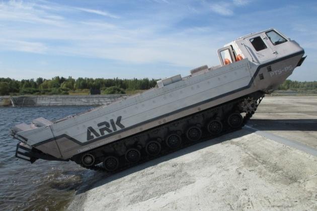 Уралвагонзавод забрендировал плавающий транспортер