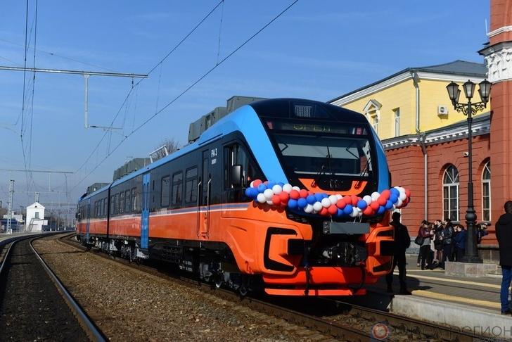 В Орле представили новый комфортабельный поезд. Фоторепортаж