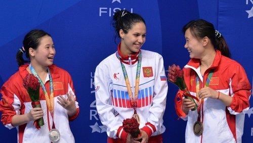 Сяо Юхуа (Китай), Юлия Колтунова (Россия) и Чен Ни (Китай) (слева направо)