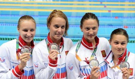 Команда России в составе Вероники Поповой, Дарьи Белякиной, Елены Соколовой и Виктории Андреевой