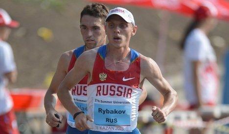 Российские бегуны в полумарафонском забеге на Универсиаде