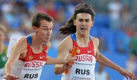 Российские спортсмены Владимир Краснов и Радэль Хашефразов (слева направо)