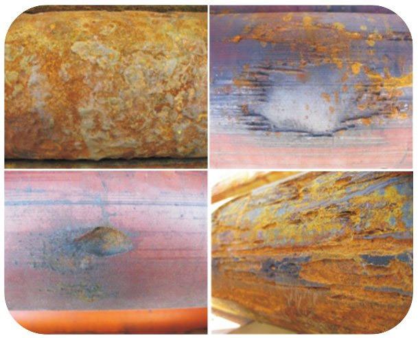Типичные коррозионные и эррозионные повреждения корпусов ПЭД УЭЦН