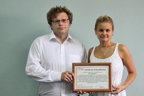 Команда молодых специалистов, успешно завершившая проект по сертификации покрытий ЗАО «Плакарт»