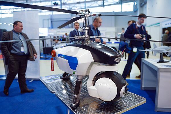 Беспилотный летательный аппарат «Оса» на Международной выставке средств обеспечения безопасности государства «Интерполитех-2015» в Москве