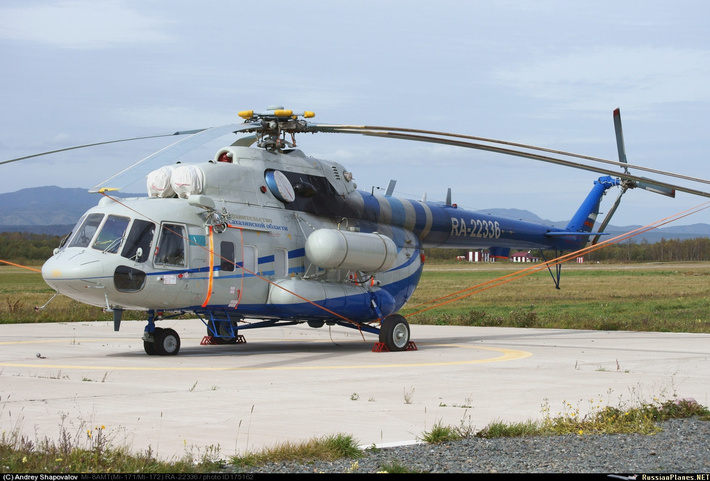 Новый Ми-8МТВ-1 Правительства Сахалинской области.Фото: Андрей Шаповалов /russianplanes.net.
