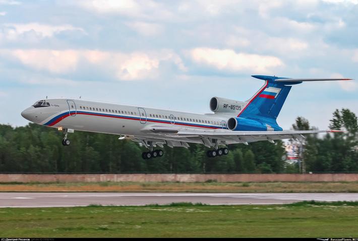 Один из Ту-154М, полученных МВД из парка «Аэрофлота». Фото: Дмитрий Рязанов / russianplanes.net