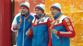 Российские биатлонисты - триумфаторы Универсиады в пасьюте