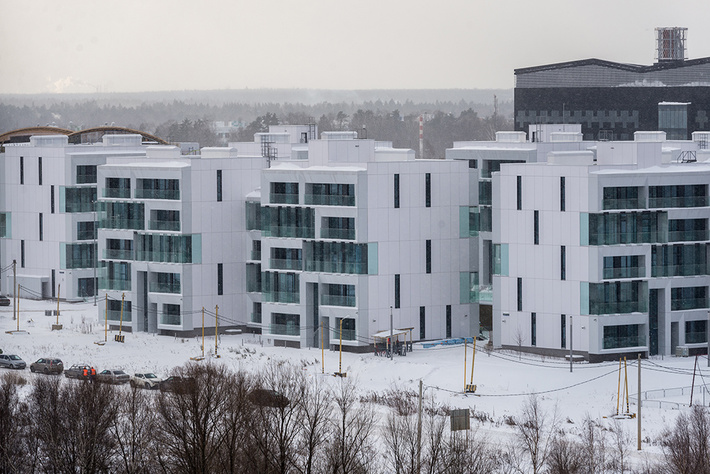 На фото: корпуса пятиэтажек в квартале «Тетрис».