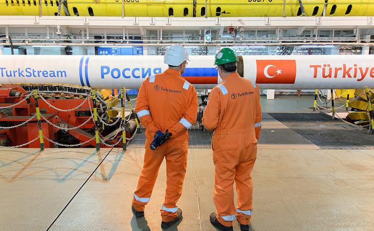 Строители соединили наземную и морскую часть «Турецкого потока»