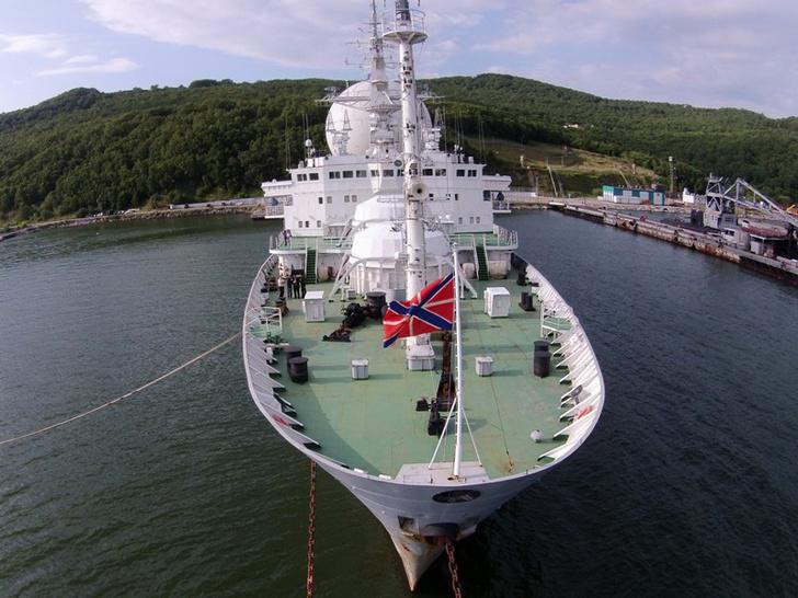 Тихоокеанскому флоту передано модернизированное судно измерительного комплекса «Маршал Крылов»
