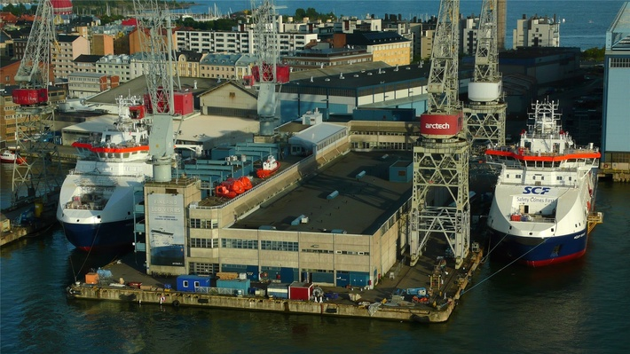 На «Arctech Helsinki Shipyard» спущено на воду судно ледового класса «Михаил Лазарев»