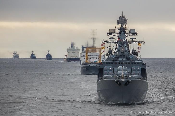 Начался очередной Арктический поход кораблей Северного флота