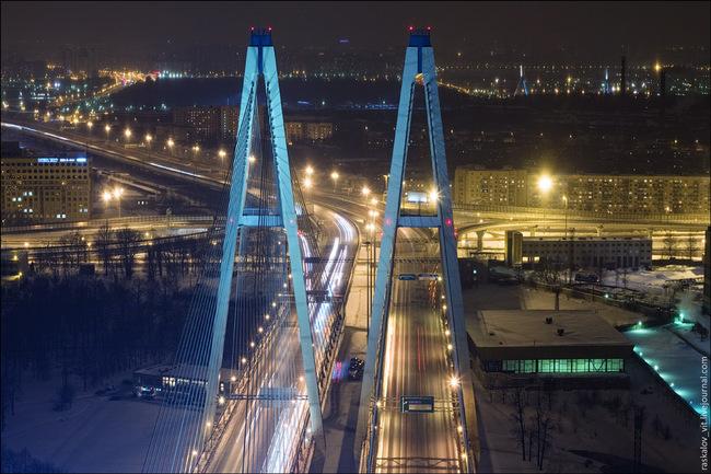 1965 год автодорожный мост через волгу