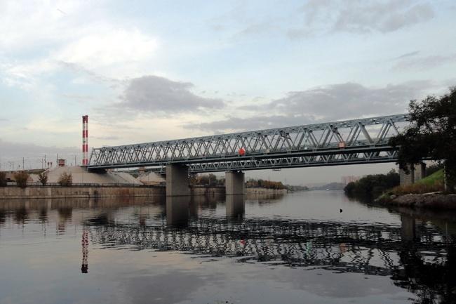 2006.12 Сабуровский мост через реку Москва (линия Москва - Курск) - 160м