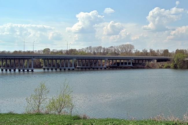 2010.10 Мост через Любовское водохранилище (Новомосковск) - 359м