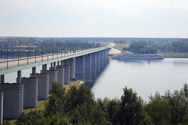 2003.11.15 Кинешемский мост (через реку Волга, Кинешма) - 1640м