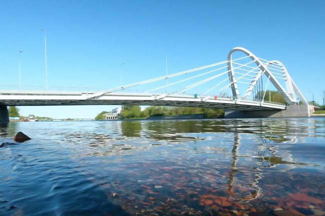 2009.05.23 Новый Лазаревский мост (через реку Малая Невка, Санкт-Петербург) - 163м