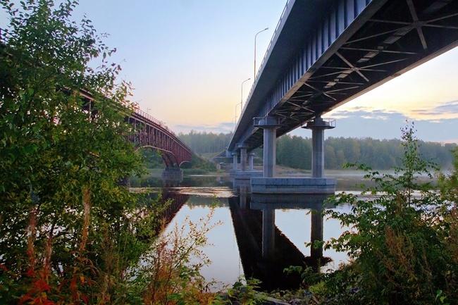 2001.08 Мост через реку Вуокса (А124, Перевозное) - 250м