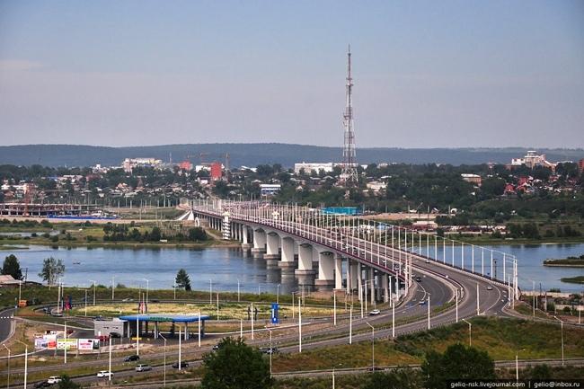 2007.10.25 (2009.12.10) Академический мост (через реку Ангара, Иркутск) - 1615м