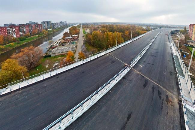 2011.12.23 Второй эстакадный мост через реки Cтарая Преголя и Новая Преголя (Калининград) - 1485м