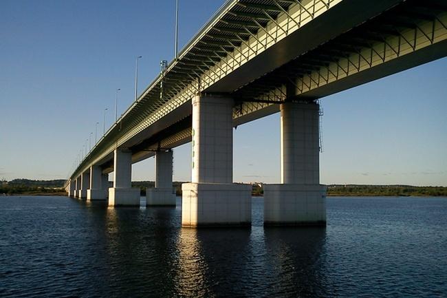 2005.10.25 (2008.09.26) Красавинский мост (через реку Кама, Пермь) - 1737м