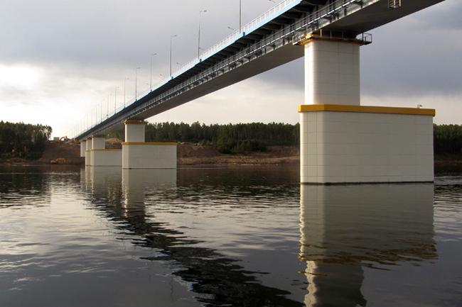 2011.11.10 Мост через реку Ангара (в Богучанском районе Красноярского края) - 1611м