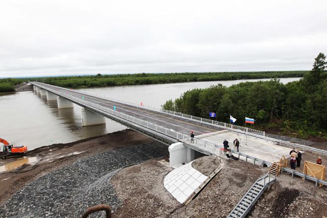 2012.07.07 Мост через реку Камчатка (Усть-Камчатск) - 445м