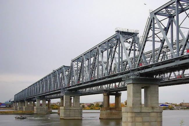 2009.09.25 Железнодорожныый мост через Обь (2-ой переезд, Камень-на-Оби) - 977м