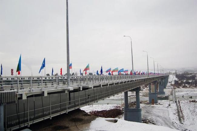 2012.12.21 Мост-эстакада через реку Кубань (Усть-Джегута) - 816м