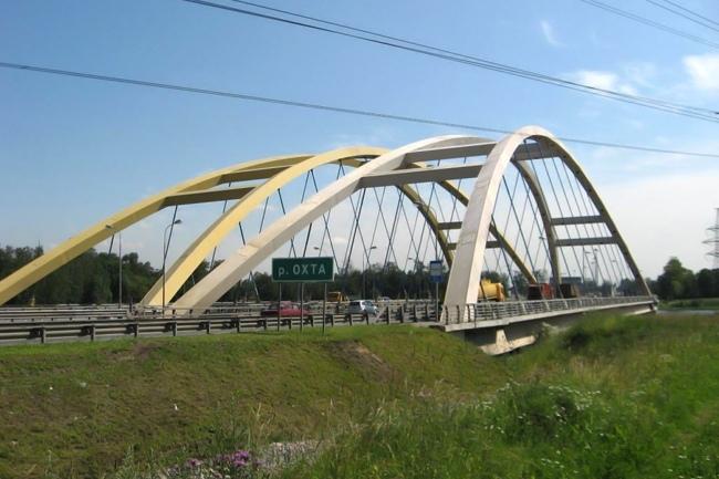 2006.09.07 (2008.10.30) Беляевский мост (через реку Охта, Санкт-Петербург) - 161м