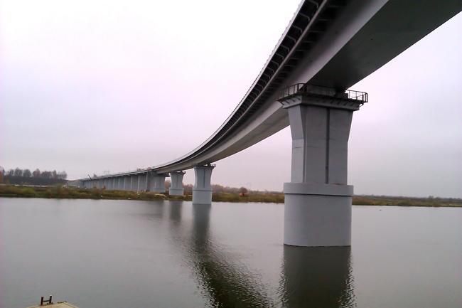 2012.12.19 Мост через реку Сура (трасса М7, Чувашия) - 1242 м