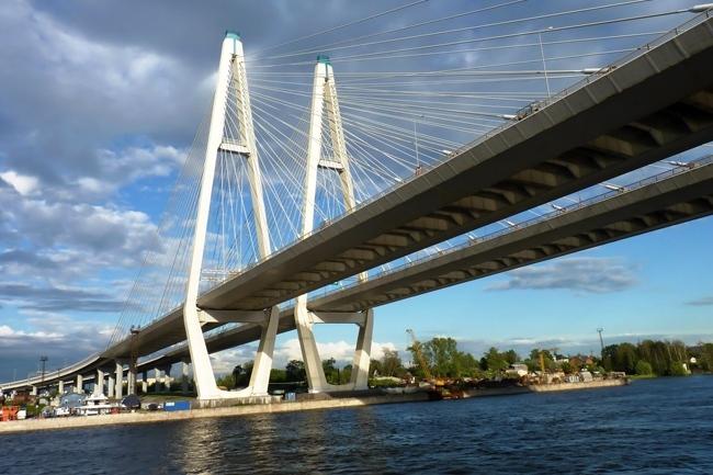 2004.12.15 (2007.10.19) Большой Обуховский мост (через реку Нева, Санкт-Петербург) - 2824м
