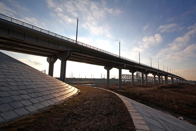 2011.11.15 Мост через реки Кривая Болда и Прямая Болда (Астрахань) - 1220м