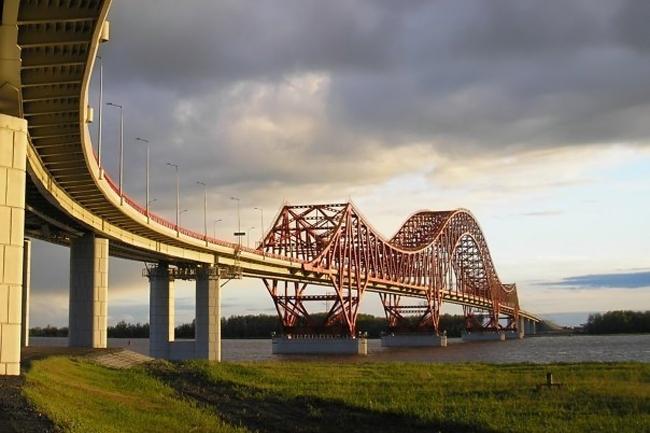 2004.09 Мост через реку Иртыш (Ханты-Мансийск) - 1316м