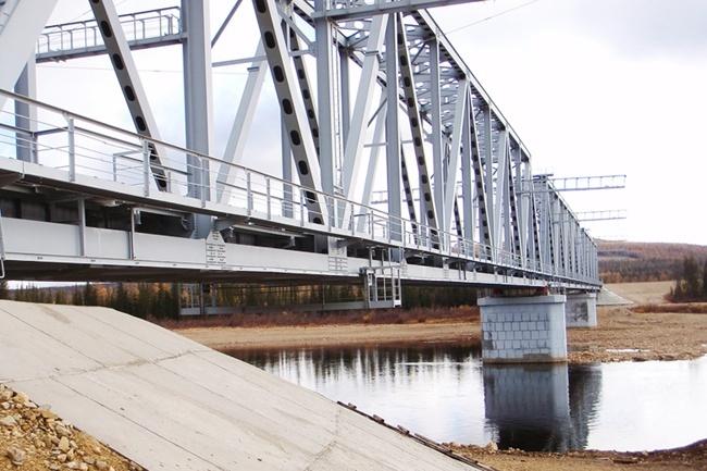 2008.12.08 Железнодорожный мост через реку Амгу (Верхняя Амга) - 347м