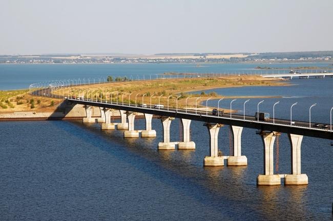 2002.10.22 Мост через реку Кама (Сорочьи Горы) - 1608м