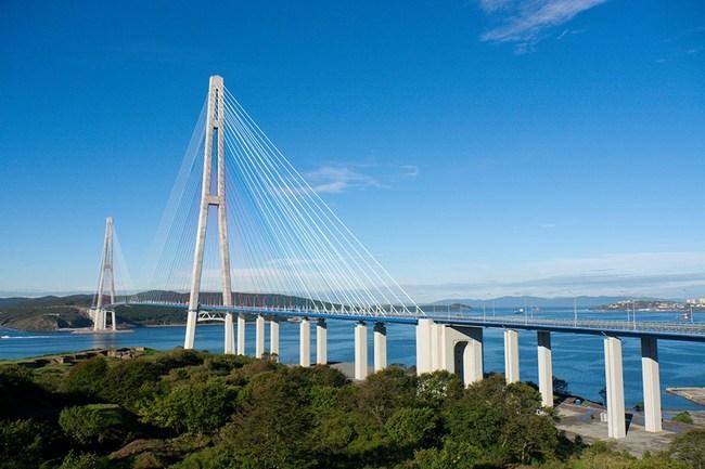 2012.08.01 Русский мост (через пролив Босфор Восточный, Владивосток) - 3100м