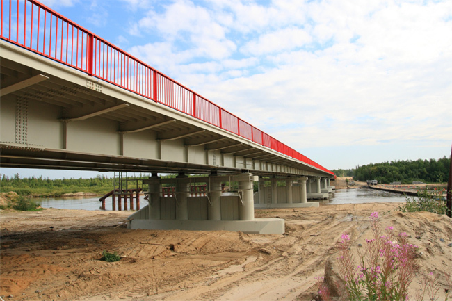 2009 Моста через реку Правая Хетта (Надым - Новый Уренгой) - 249м