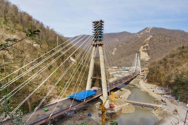 Вантовый мост в Сочи