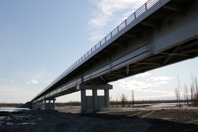 2011.09.29 Мостового перехода через речку Восточная Хандыга - 389м