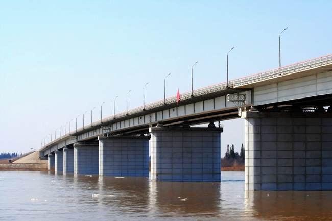 1999 Северный мост через реку Томь (Томск) - 801м