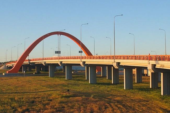 2006.10 Мостовые сооружения на транспортной развязке автодороги Сургут - Аэропорт - 292м